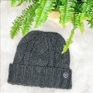 Michael Kors Gray Cable Knit Cap w/Monogram